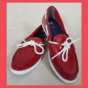 Cole Haan red topsiders